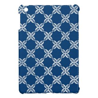 CHIC MINI IPAD CASE_158 BLUE/WHITE FLOWER PODS COVER FOR THE iPad MINI