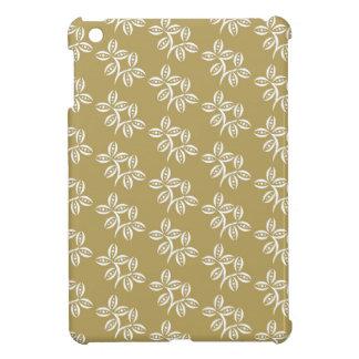 CHIC MINI IPAD CASE_45 KAKKI/WHITE FLOWER PODS iPad MINI COVERS