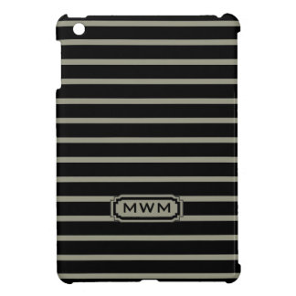 CHIC MINI-IPAD CASE_607 TAUPE/BLACK STRIPES iPad MINI COVER