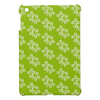 CHIC MINI IPAD CASE_64 GREEN /WHITE FLOWER PODS iPad MINI CASES