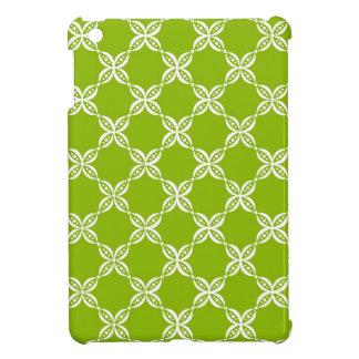 CHIC MINI IPAD CASE_64 GREEN/WHITE FLOWER PODS iPad MINI COVER
