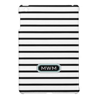 CHIC MINI-IPAD CASE_BLACK/WHITE STRIPES COVER FOR THE iPad MINI