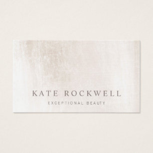 Sophisticated business cards templates zazzle chic minimalist ivory white stone business card colourmoves