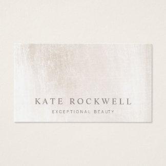 Chic Minimalist Ivory White Stone Business Card