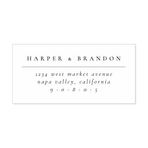 Chic Minimalist Typography Wedding Return Address Self_inking Stamp