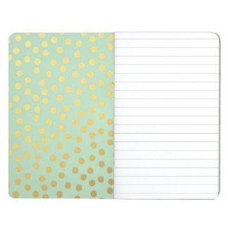 Chic Mint Gold Confetti Dots Journal