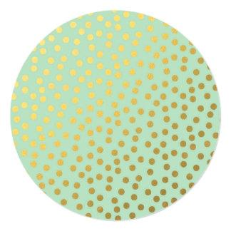 Chic Mint Gold Dots Sweet Sixteen Card