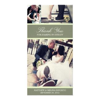 CHIC MINT GRATITUDE | WEDDING THANK YOU CARD