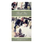 CHIC MINT GRATITUDE | WEDDING THANK YOU CARD CUSTOMIZED PHOTO CARD