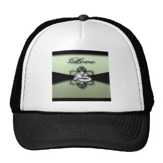 Chic Mint Green and Black Wedding Favor Trucker Hat