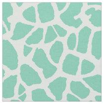 Chic Mint Green Giraffe Print Girly Animal Pattern Fabric