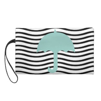 Chic Mint Travels Beach Vacation Wristlet