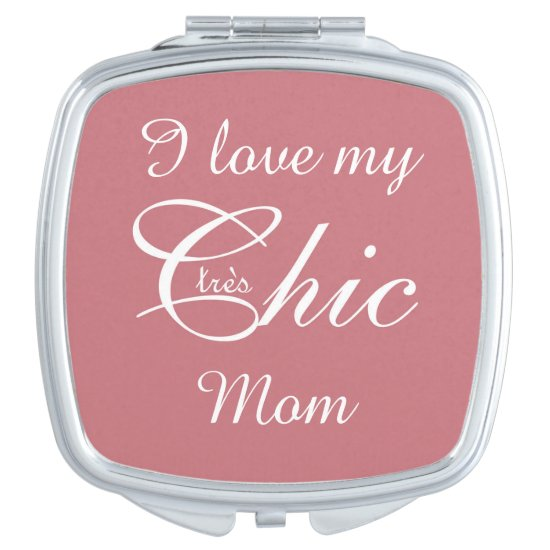 "CHIC MIRROR COMPACT_""tres Chic"" MOM_WHITE/PINK"