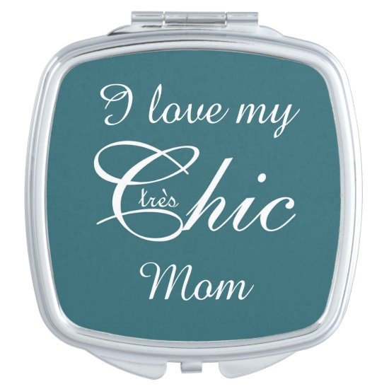 "CHIC MIRROR COMPACT_""tres Chic"" MOM_WHITE/TEAL"