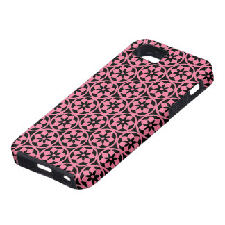CHIC MOD FLOWRES PINK/BLACK iPhone SE/5/5s CASE