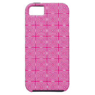 CHIC MOD GEO #1 HOT PINK/WHITE iPhone 5 CASE