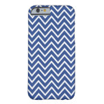 Chic moderate cobalt blue zigzag chevron pattern barely there iPhone 6 case