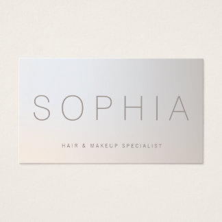 Chic Modern Beauty Minimalist Luminous Silver Business Card