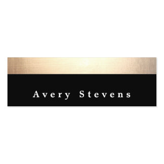 Chic Modern Black and Gold Striped Mini Business Card