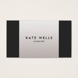 Chic Modern Black and Taupe Gray Colorblock Business Card