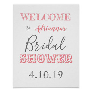 Chic Modern Bridal Shower Welcome Sign