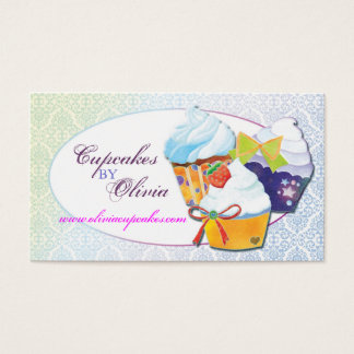 Chic Modern Cupcakes Patissier Business Cards