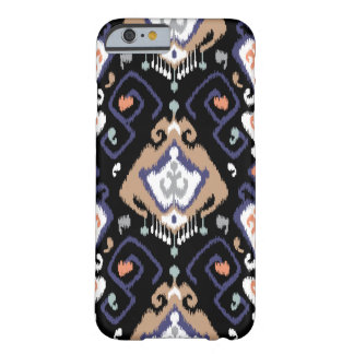 Chic modern dark ikat tribal pattern barely there iPhone 6 case