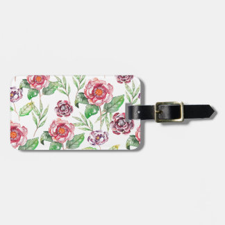 Chic Modern Elegant Floral Watercolor Pattern Bag Tag