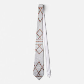 Chic Modern Faux Rose Gold Geometric Triangles Neck Tie