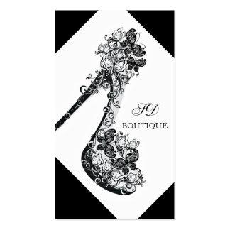 Chic Modern Floral High Heel Pump Shoe Business Cards