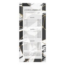 Chic Modern Gold Marble and Black Geometric Rack Card