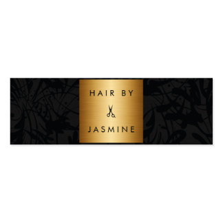 chic modern hair stylist hairstylist budget cheap mini business card