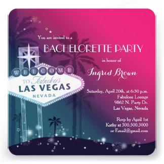 Chic Modern Las Vegas Bachelorette Party Invites