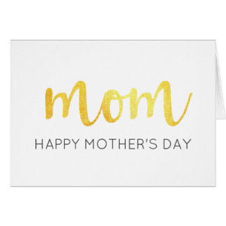 Chic Modern Metallic Gold Mom Happy Mother's Day