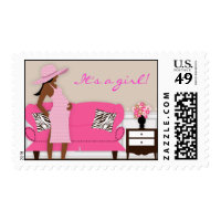 Chic Modern Mom Baby Shower Postage Stamp