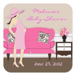 Chic Modern Mom Baby Shower Stickers sticker