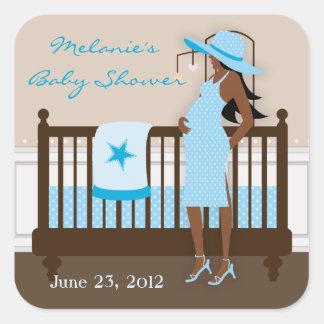 Chic Modern Mom Baby Shower Stickers