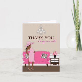 Chic Modern Mom Baby Shower Thank You Card card