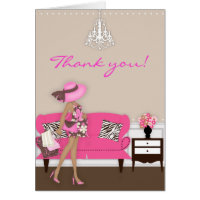 Chic Modern Mom Baby Shower Thank You Note Greeting Card
