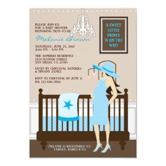 Chic Modern Mom Contemporary Baby Shower Invite