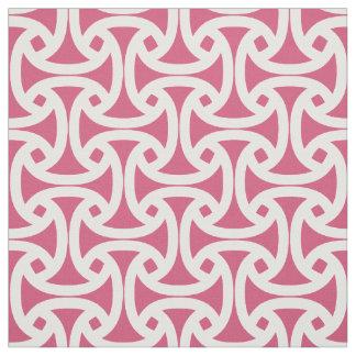 Chic, Modern Pattern - Wellfleet - Bright Pink Fabric