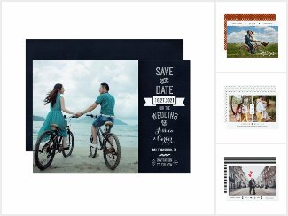 Chic & Modern Photo Save the Date Cards