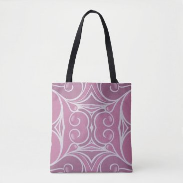 Chic Modern Pink White Graphic Design Tote Bag