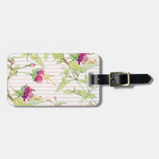Chic Modern Rose Garden Floral Luggage Tags