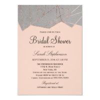 Chic Modern Rose Gold Geo Bridal Shower Invitation