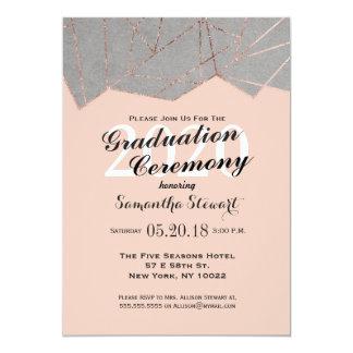 chic modern rose gold geo graduation ceremony card - Graduation Ceremony Invitation