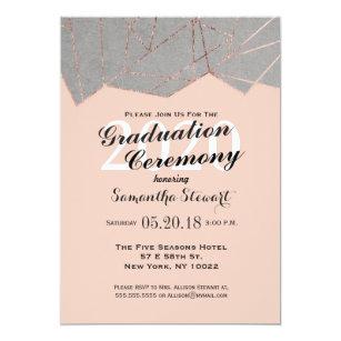 rose gold foil graduation invitations zazzle