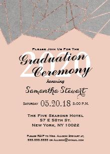 elegant ceremony 5x7 graduation invitations zazzle
