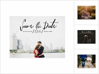 Chic & Modern Save the Date Photo Cards