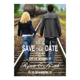 Chic Modern Swirl Save the Dates Personalized Invite